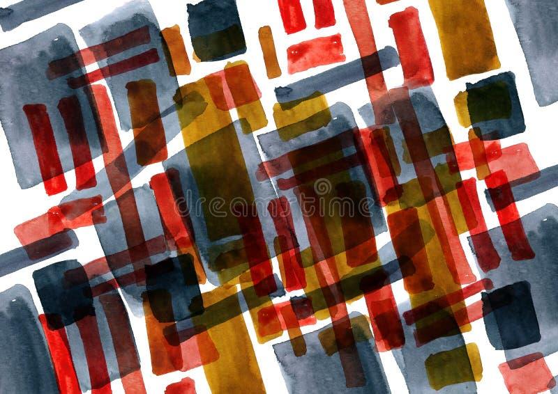 Figure astratte in acquerello illustrazione di stock