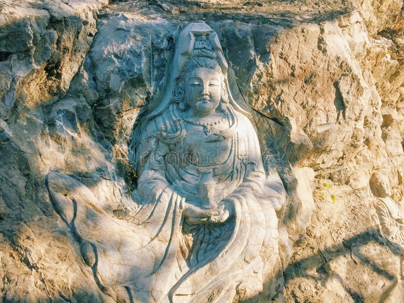 The figure of the Buddha stock images