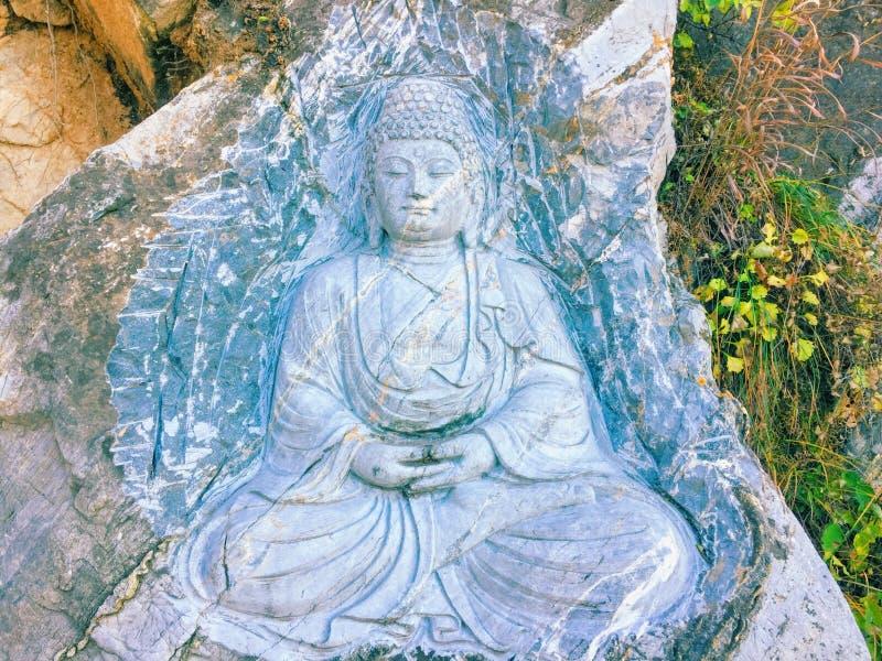The figure of the Buddha stock photo