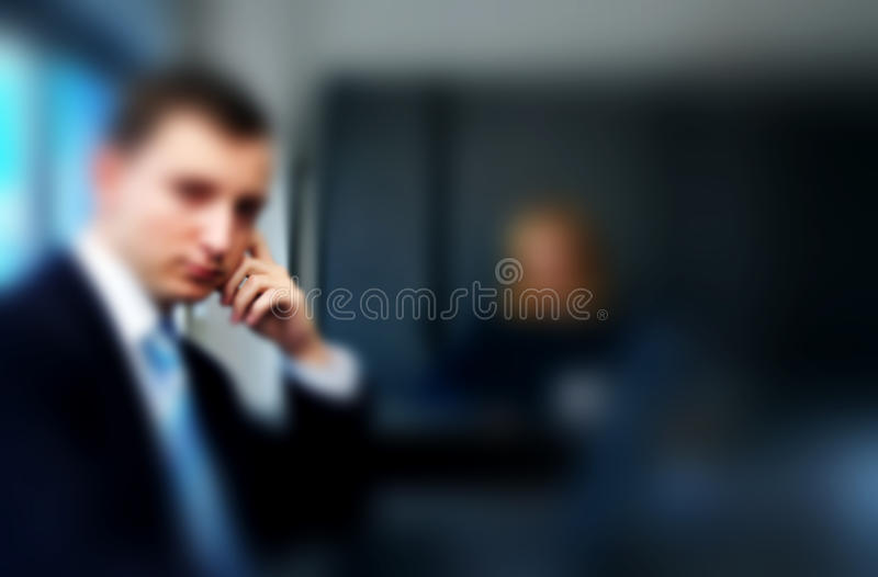 Figure of Businessman Thinking royalty free stock photos