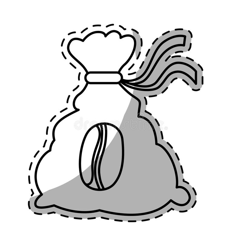Figure coffee sack icon image. Illustration vector illustration