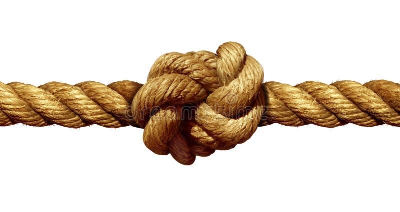 figure corde du double huit de noeud illustration libre de droits