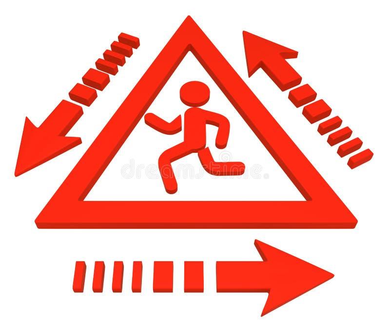 Figure courante cycle de signe de triangle illustration de vecteur