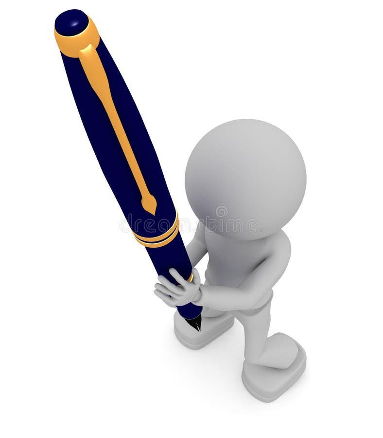 figure crayon lecteur de fixation illustration stock