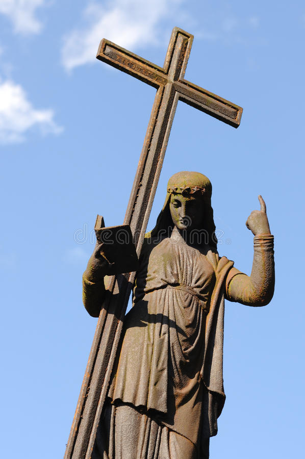Download Figure With A Cross On Blue Sky Stock Photo - Image of svitavy, cross: 23539158