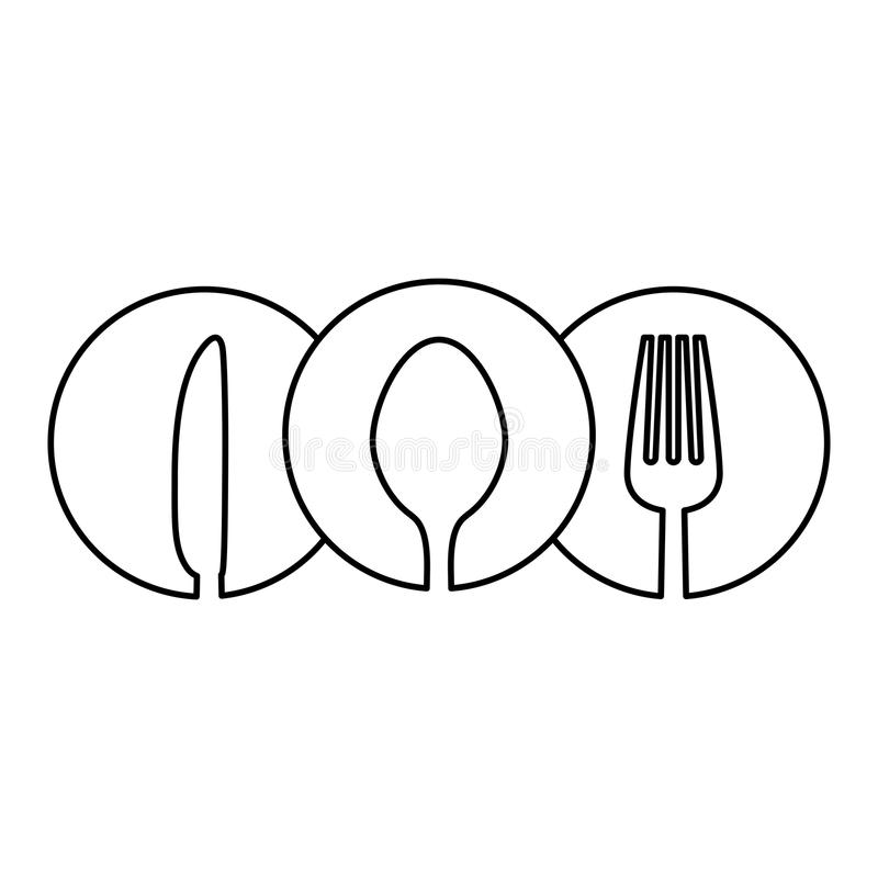 figure cutlery icon image design vector illustration