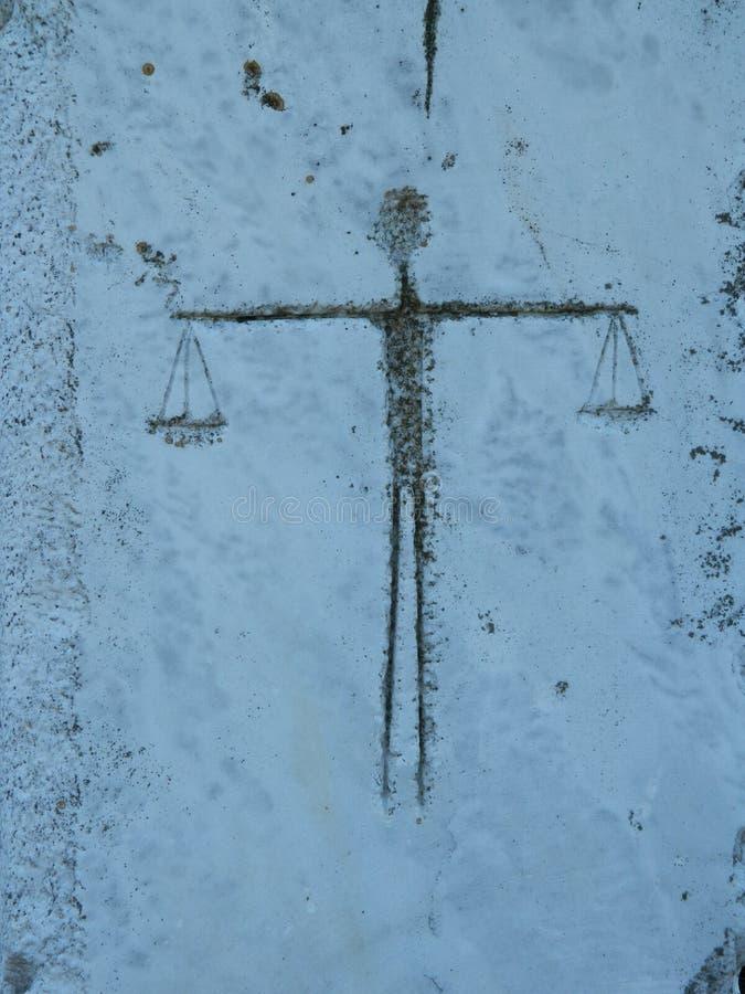 Figure d'un homme comme échelles photos libres de droits