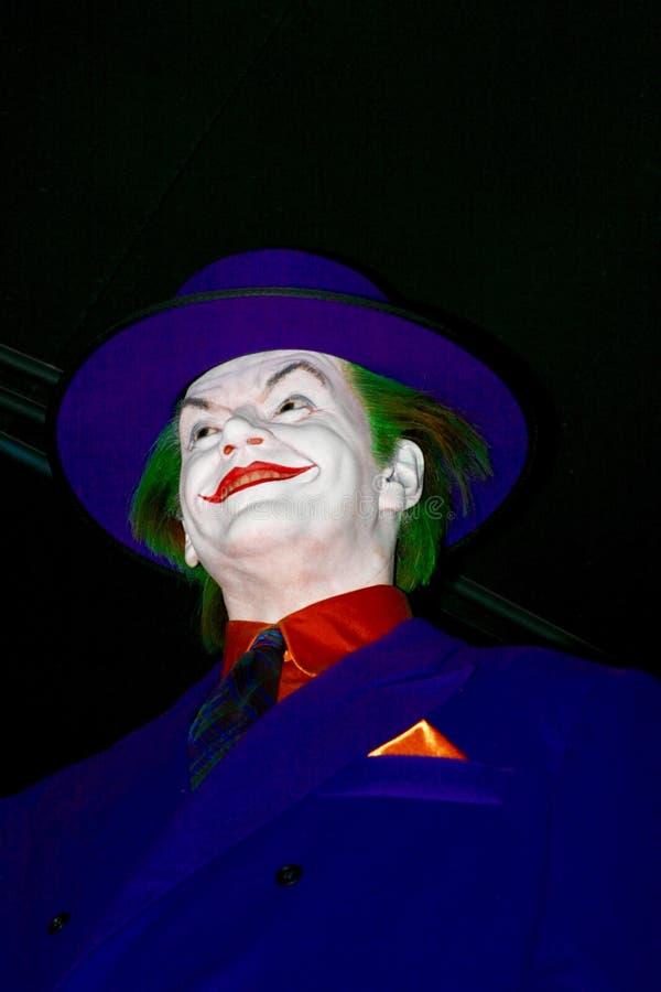 Figure de cire de Jack Nicholson en tant que joker photo libre de droits