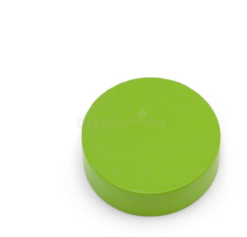 Figure del giocattolo - cerchio verde fotografia stock libera da diritti