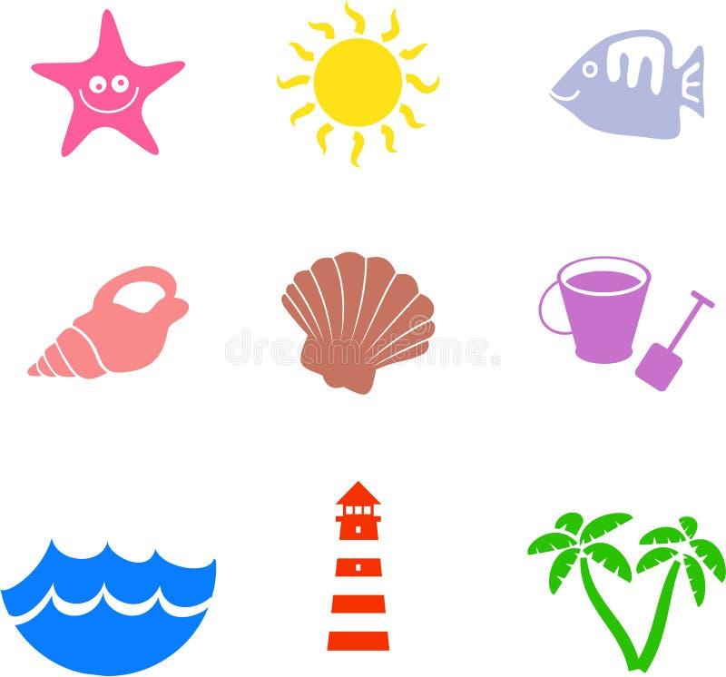 Figure della spiaggia illustrazione vettoriale