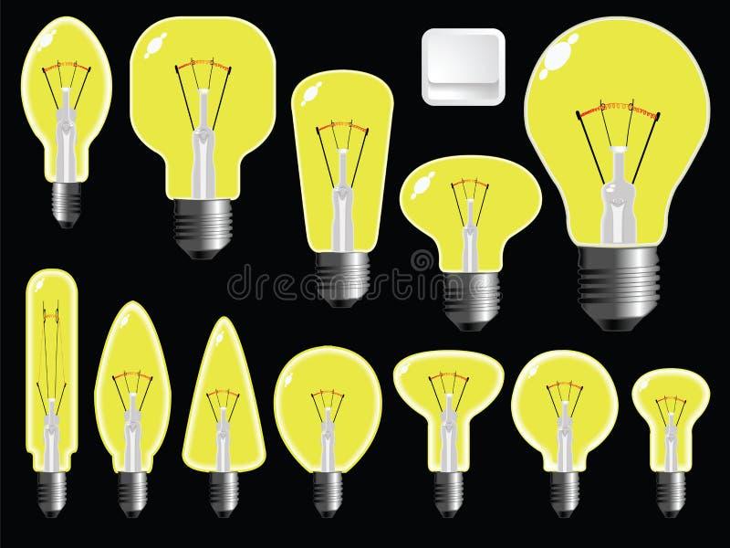 Figure delle lampadine royalty illustrazione gratis