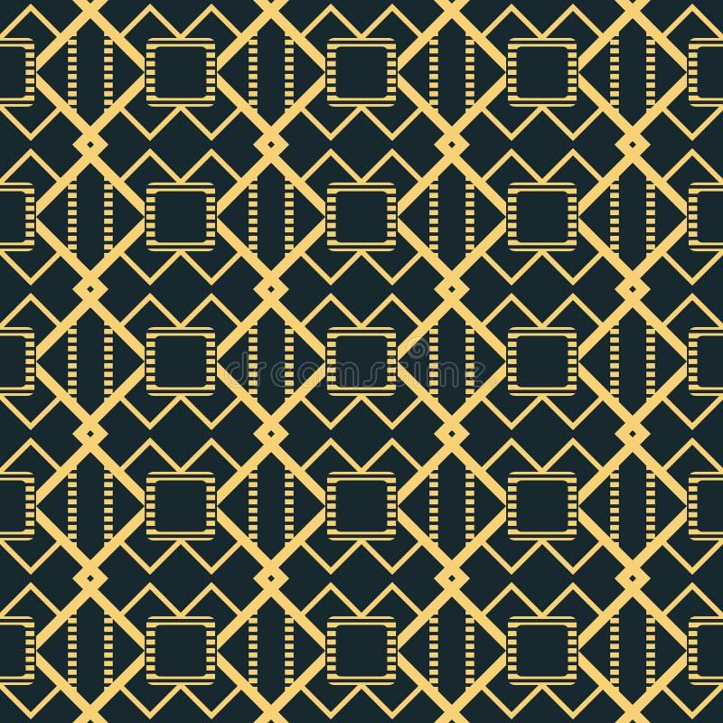 Figure delle linee a strisce che formano il patte senza cuciture della grata peculiare royalty illustrazione gratis