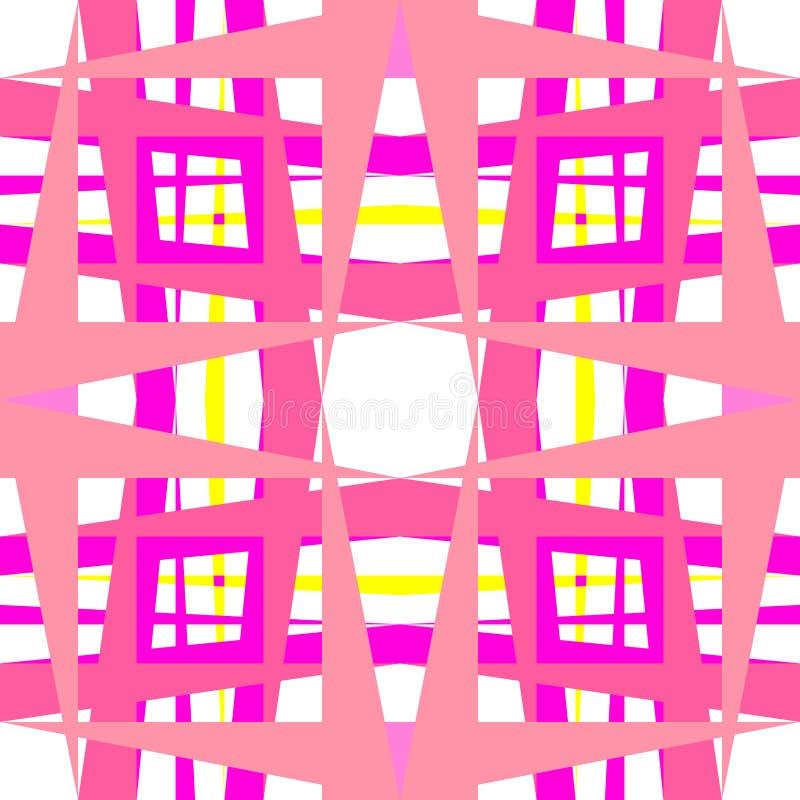 Figure dentellare geometriche astratte illustrazione di stock