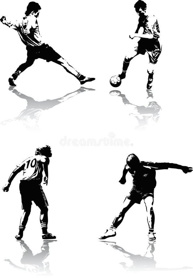 Figure di calcio royalty illustrazione gratis