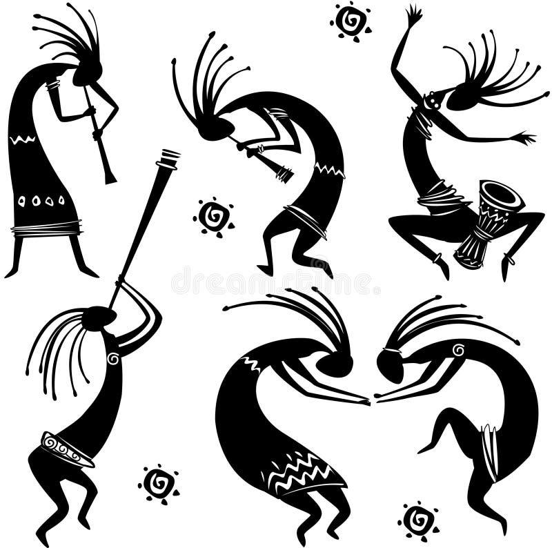 Figure di Dancing illustrazione di stock