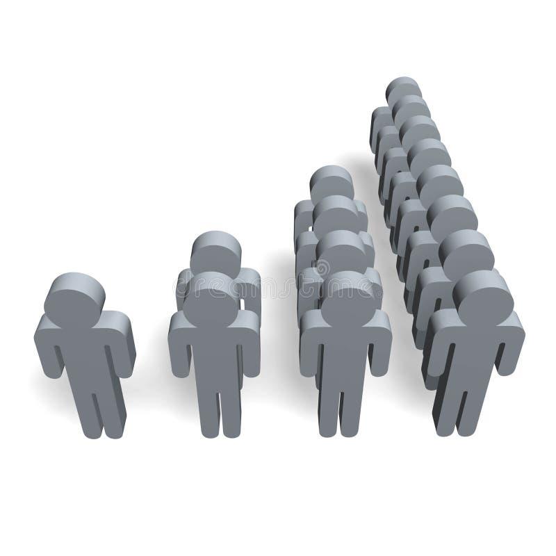Figure di popolazione di demografia royalty illustrazione gratis