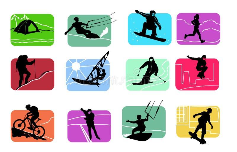 figure di sport illustrazione di stock