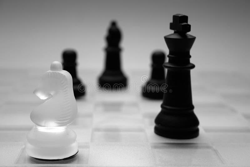 Figure di vetro di scacchi immagini stock libere da diritti