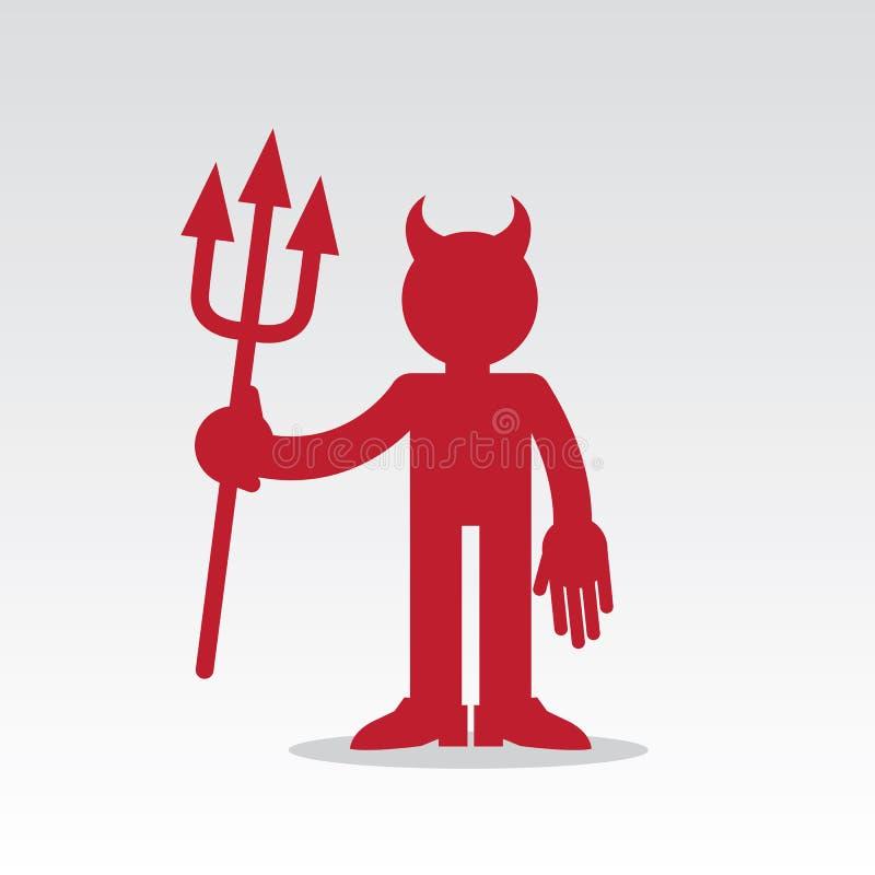 Figure diable rouge illustration de vecteur