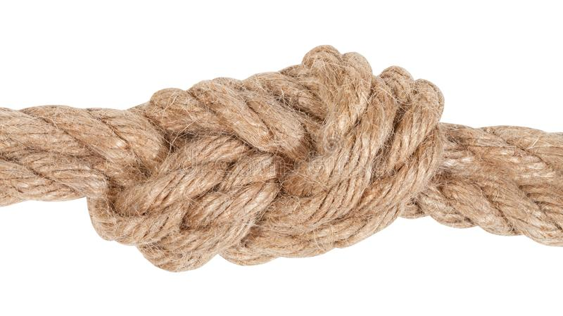 figure eight bend joining two ropes close up royalty free stock image