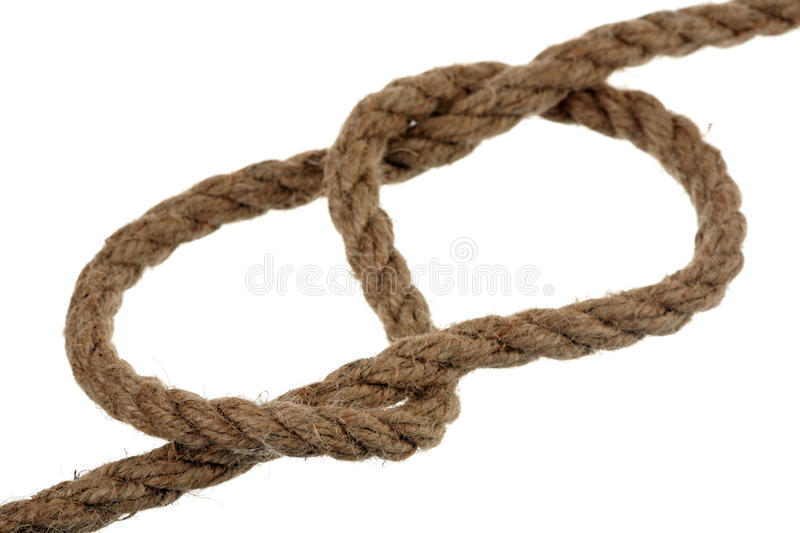 Download Figure-eight knot stock image. Image of classical, rope - 17672073