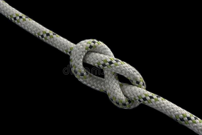 Figure-eight knot stock photo
