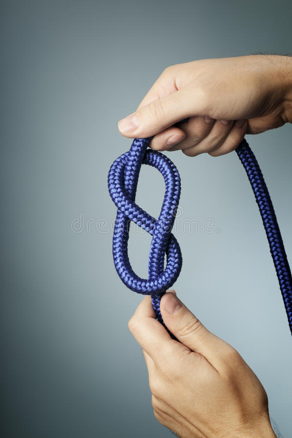 Figure of eight knot royalty free stock photo