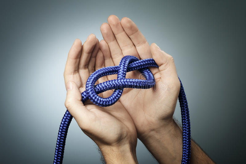 Download Figure of Eight Knot stock image. Image of knot, blue - 27227639