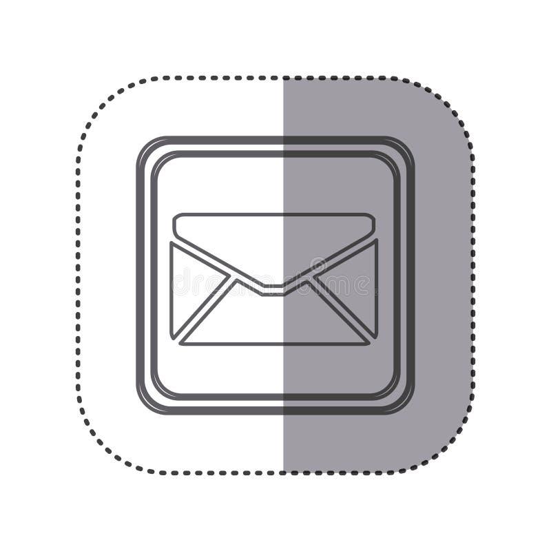 figure emblem close letter icon vector illustration