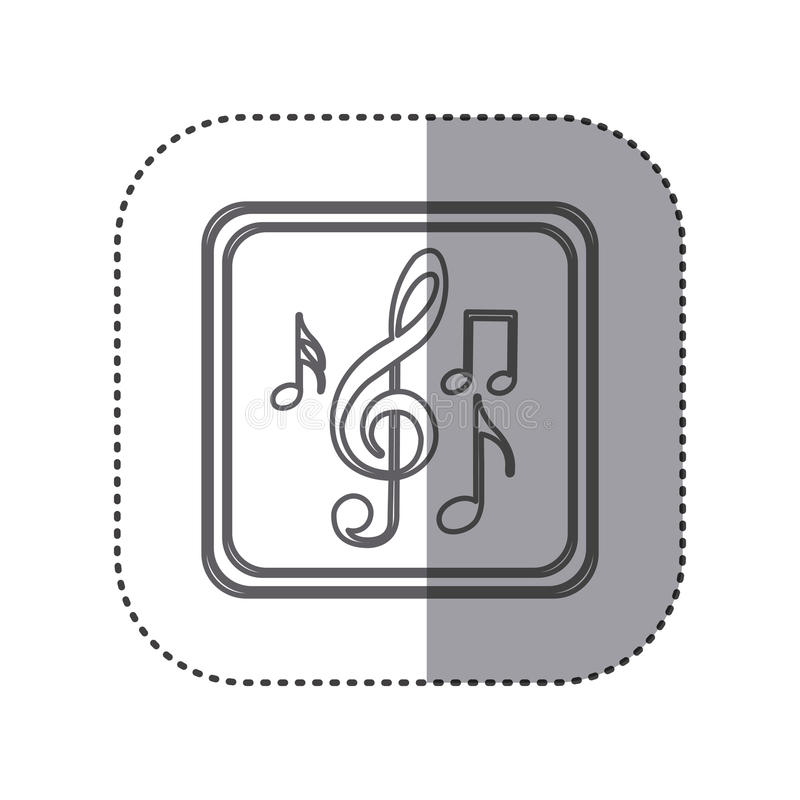 figure emblem musical notes vector illustration