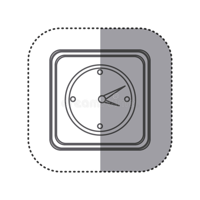 figure emblem wall clock time stock illustration