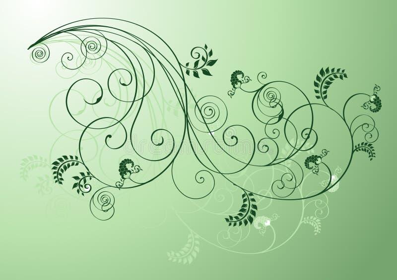 Figure floreali verdi illustrazione vettoriale