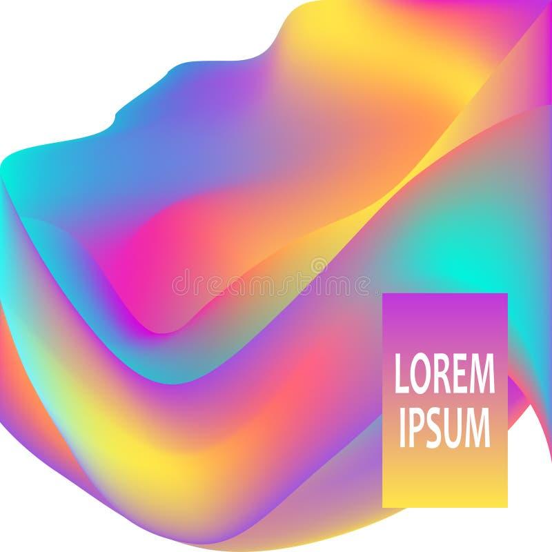 Figure fluide Fondo liquido ondulato Concetto astratto luminoso del contesto Le onde d'avanguardia di pendenza progettano il mani illustrazione di stock