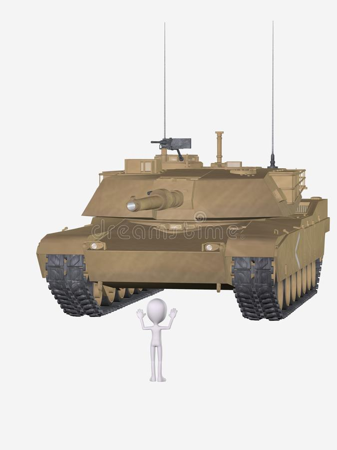 Download Figure in front of tank stock illustration. Image of background - 19077524