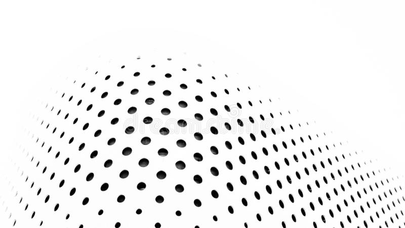 Figure géométrique minimaliste de construire le mur extérieur photographie stock libre de droits