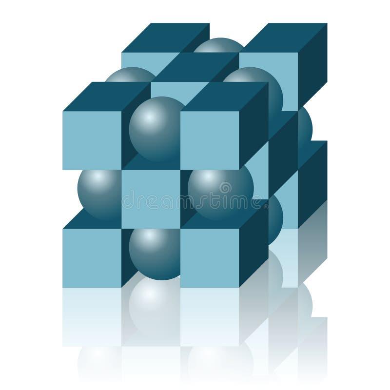 Figure geometic abstraite d'isolement sur le blanc photographie stock libre de droits