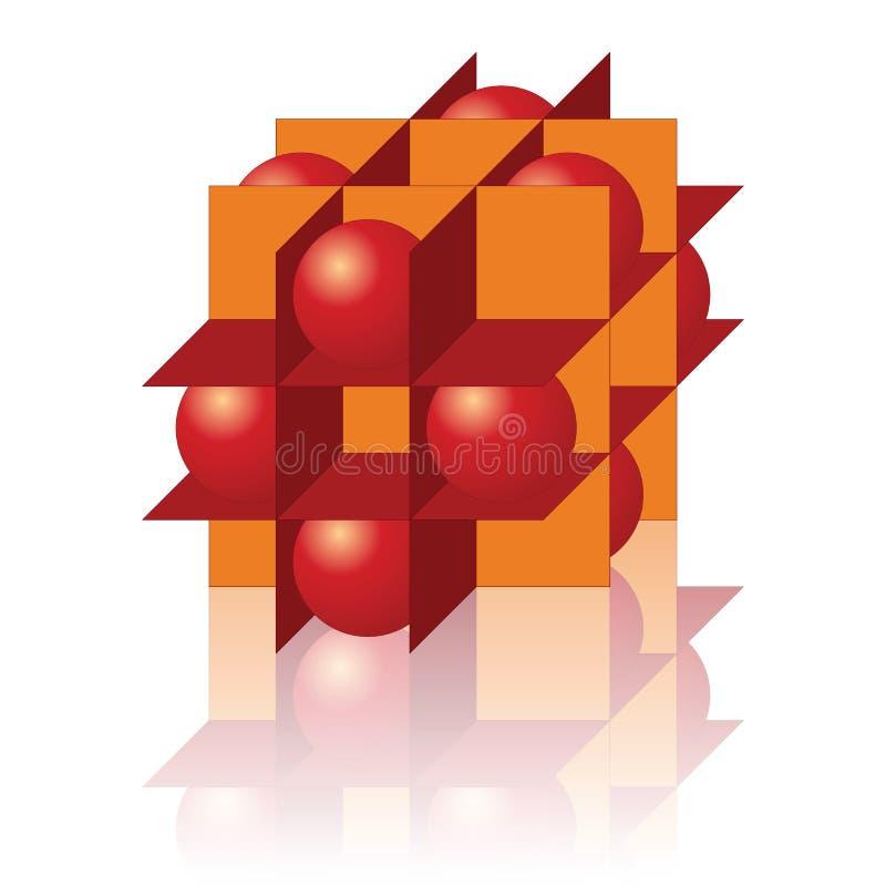 Figure geometic abstraite d'isolement sur le blanc image stock