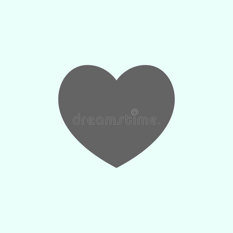 Figure geometriche, icona del cuore Elementi delle figure geometriche icona dell'illustrazione I segni ed i simboli possono esser illustrazione di stock