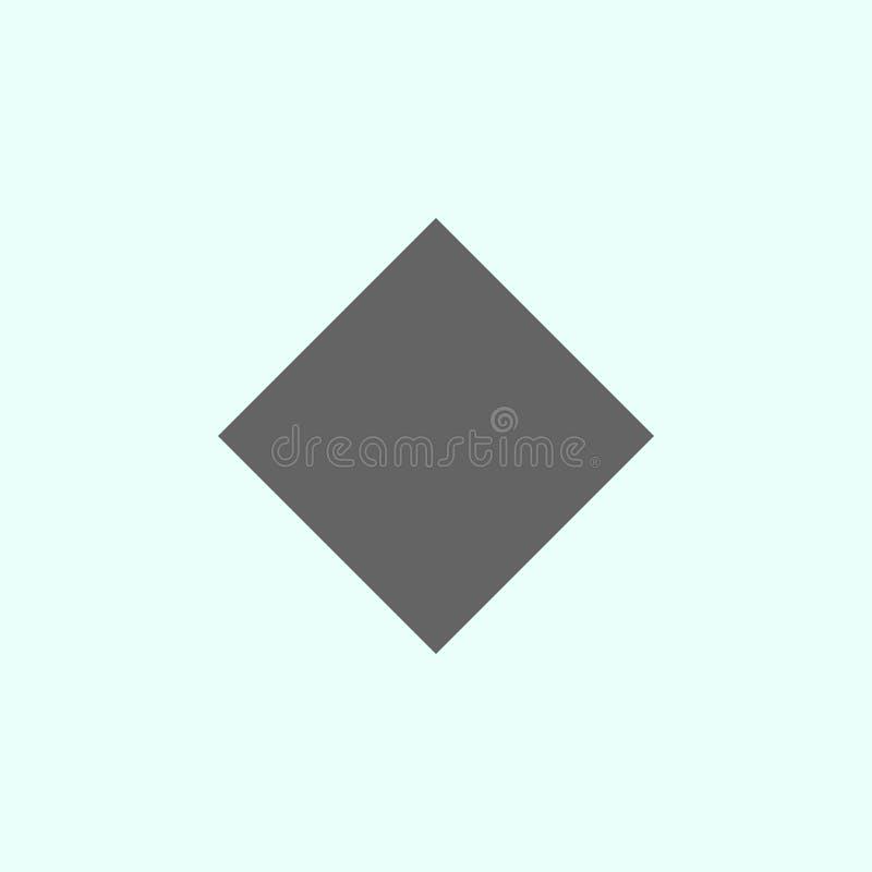 Figure geometriche, icona del rombo Elementi delle figure geometriche icona dell'illustrazione I segni ed i simboli possono esser royalty illustrazione gratis