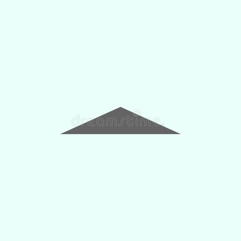 Figure geometriche, icona del triangolo isoscele Elementi delle figure geometriche icona dell'illustrazione I segni ed i simboli  illustrazione di stock