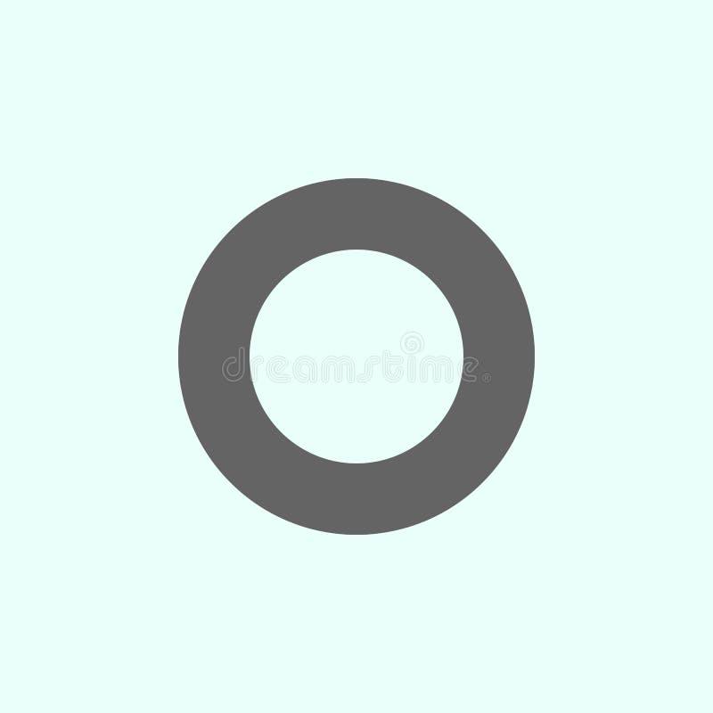 Figure geometriche, icona dell'anello Elementi delle figure geometriche icona dell'illustrazione I segni ed i simboli possono ess illustrazione di stock