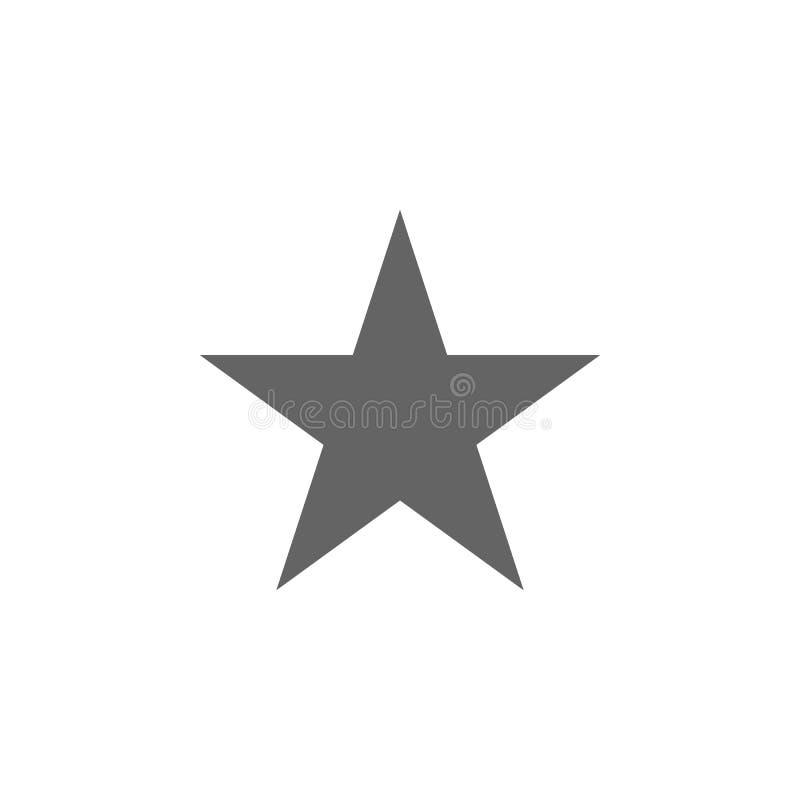 Figure geometriche, icona della stella Elementi delle figure geometriche icona dell'illustrazione I segni ed i simboli possono es illustrazione di stock