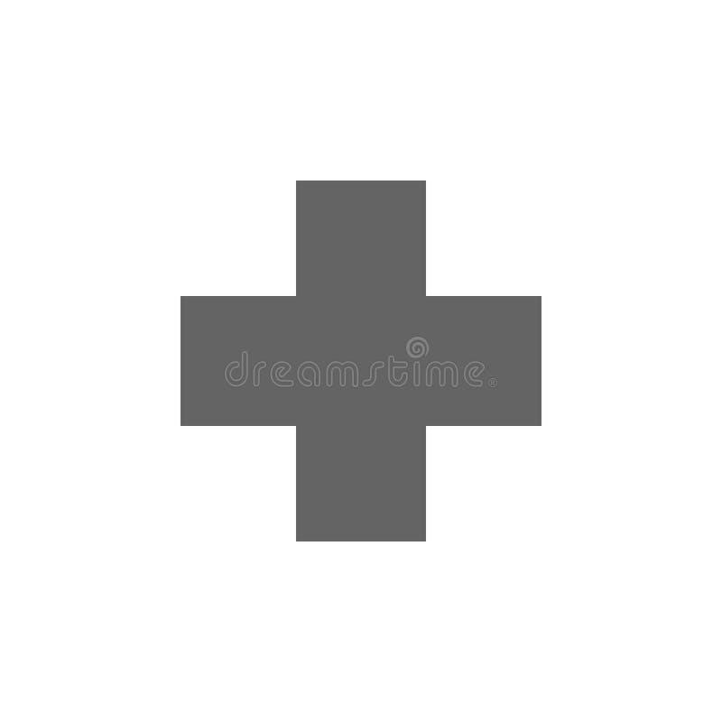 Figure geometriche, icona trasversale Elementi delle figure geometriche icona dell'illustrazione I segni ed i simboli possono ess illustrazione di stock
