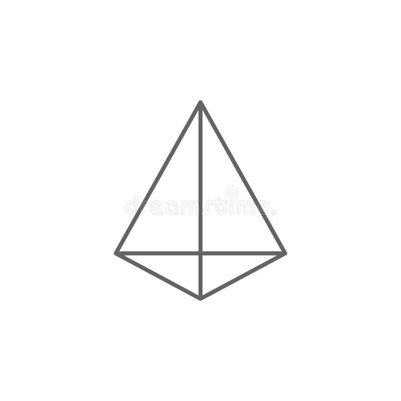 Figure geometriche, icona triangolare del profilo della piramide Elementi delle figure geometriche icona dell'illustrazione I seg illustrazione di stock