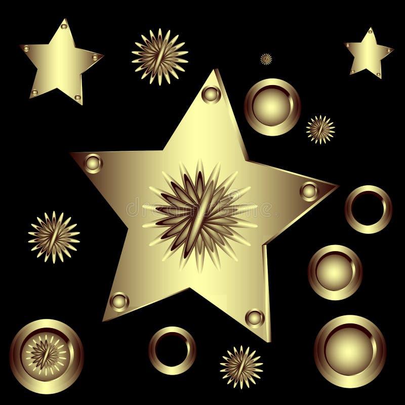 Figure geometriche stabilite royalty illustrazione gratis