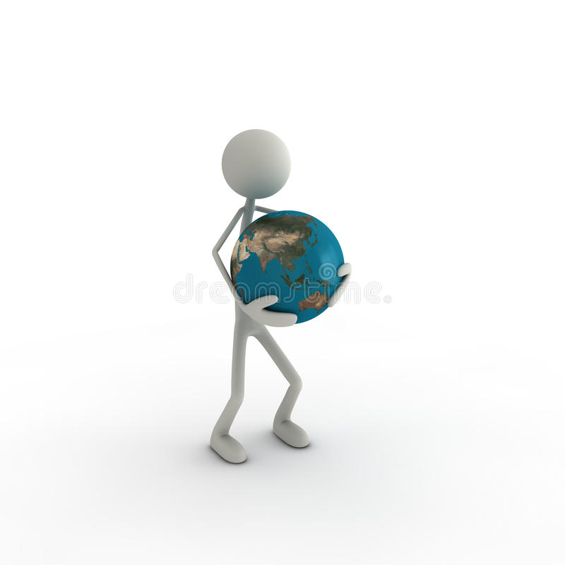 Download Figure With Globe Asia Stock Photography - Image: 16468992