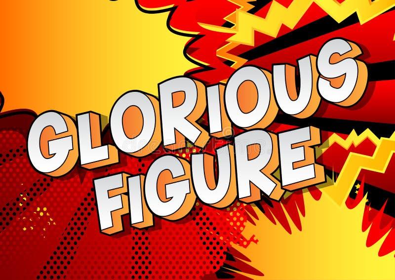 Figure glorieuse - mots de style de bande dessinée illustration de vecteur