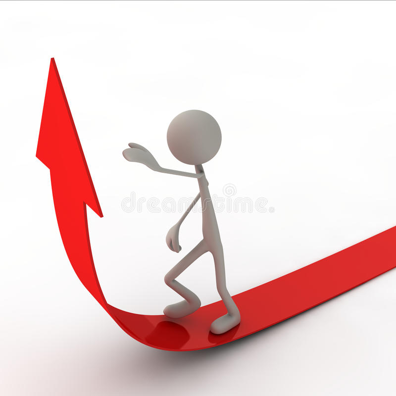Download Figure Are Going On The Arrow Stock Illustration - Image: 24044404