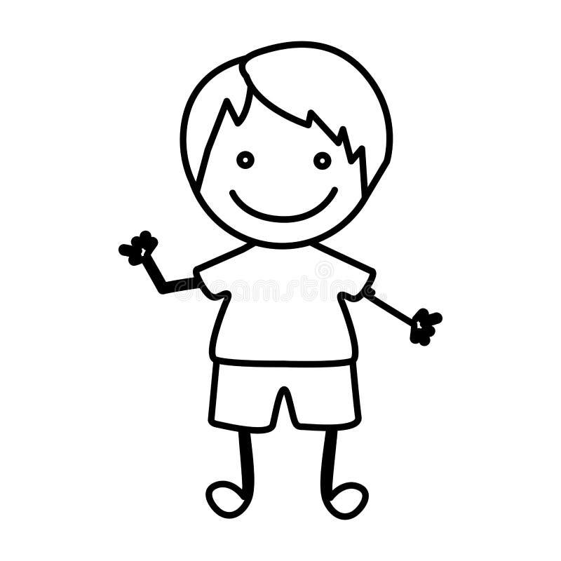 figure happy boy icon royalty free illustration