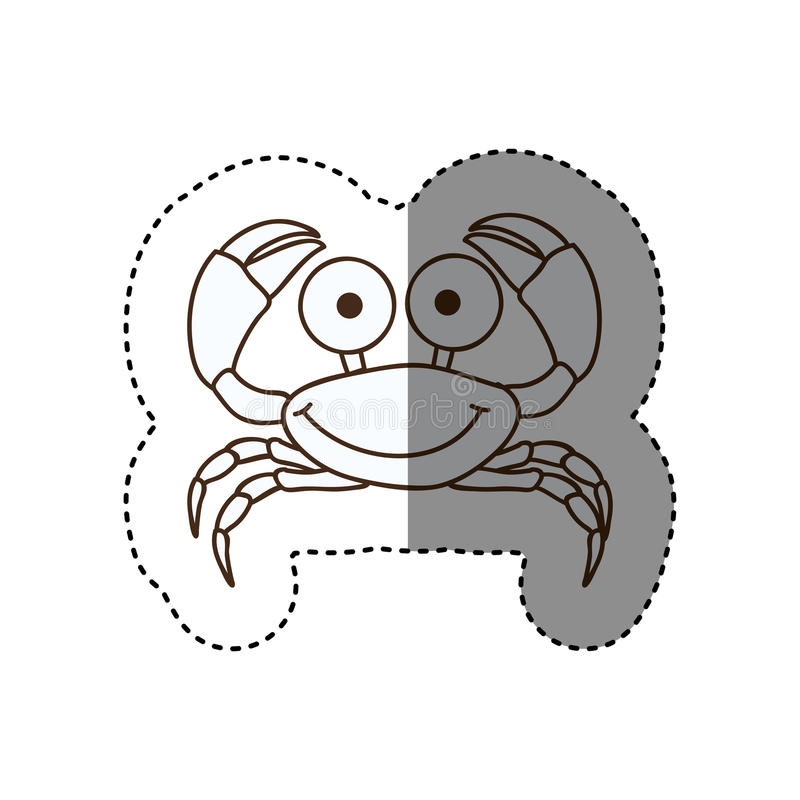 figure happy crab cartoon icon royalty free illustration
